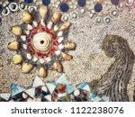 colorful mosaic decoration... | Shutterstock . vector #1122238076