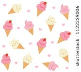 cute ice cream with hearts... | Shutterstock .eps vector #1122239006
