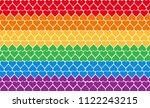 lgbt pride vector flag. rainbow ... | Shutterstock .eps vector #1122243215