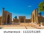 beautiful facade of the... | Shutterstock . vector #1122251285