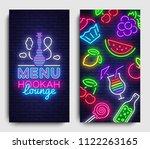 hookah lounge menu design...   Shutterstock .eps vector #1122263165