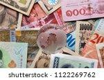 miniature world globe on... | Shutterstock . vector #1122269762