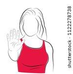 stop violence against women ... | Shutterstock .eps vector #1122278738