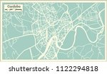 cordoba spain city map in retro ... | Shutterstock .eps vector #1122294818