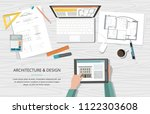 workplace   construction... | Shutterstock .eps vector #1122303608
