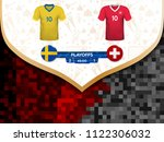 match playoffs. game between... | Shutterstock .eps vector #1122306032