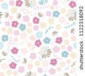 vector seamless pattern of neat ... | Shutterstock .eps vector #1122318092