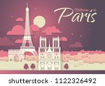 france. paris with the symbols... | Shutterstock .eps vector #1122326492