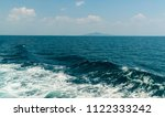 wave of ship on water surface... | Shutterstock . vector #1122333242