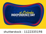 colombia. independence day... | Shutterstock .eps vector #1122335198