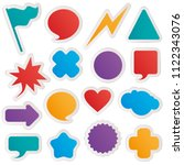 different colorful shapes... | Shutterstock .eps vector #1122343076