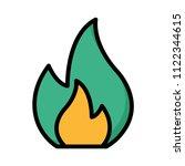 flame fire burn  | Shutterstock .eps vector #1122344615