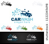car wash logo  cleaning car ... | Shutterstock .eps vector #1122345698