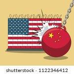 trade war concept | Shutterstock .eps vector #1122346412