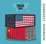 trade war concept   Shutterstock .eps vector #1122346415