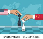 trade war concept | Shutterstock .eps vector #1122346508