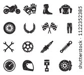 motorcycle icons. black... | Shutterstock .eps vector #1122352385