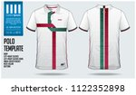 portugal team polo t shirt... | Shutterstock .eps vector #1122352898