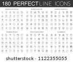 180 modern thin line icons set... | Shutterstock . vector #1122355055