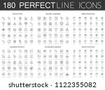 180 modern thin line icons set... | Shutterstock . vector #1122355082