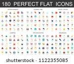 180 modern flat icons set of...   Shutterstock . vector #1122355085