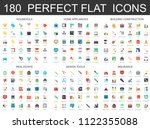 180 modern flat icons set of...   Shutterstock . vector #1122355088
