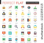 set of flat startup and... | Shutterstock . vector #1122355115