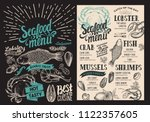 seafood menu for restaurant on... | Shutterstock .eps vector #1122357605