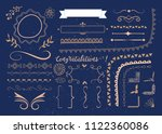 set of vector graphic elements... | Shutterstock .eps vector #1122360086
