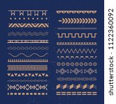 set of borders on dark blue... | Shutterstock .eps vector #1122360092