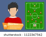 profile of the football player... | Shutterstock .eps vector #1122367562