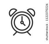 alarm clock icon black line...