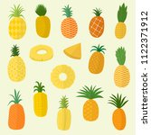 pineapple tropical organic... | Shutterstock .eps vector #1122371912