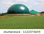 biogas production  anaerobic... | Shutterstock . vector #1122373655