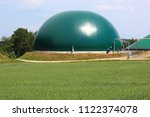 biogas production  anaerobic... | Shutterstock . vector #1122374078