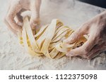 closeup of process of making... | Shutterstock . vector #1122375098
