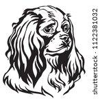 decorative portrait of dog...   Shutterstock .eps vector #1122381032