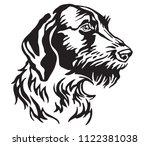 decorative portrait of dog... | Shutterstock .eps vector #1122381038