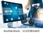 cyber security business... | Shutterstock . vector #1122381665