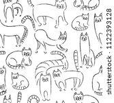 seamless monochrome pattern....   Shutterstock .eps vector #1122393128