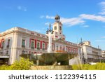square puerta del sol in madrid ... | Shutterstock . vector #1122394115
