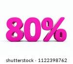 pink 80  percent discount sign  ... | Shutterstock . vector #1122398762