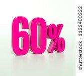 pink 60  percent discount sign  ... | Shutterstock . vector #1122400322
