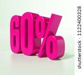 pink 60  percent discount sign  ... | Shutterstock . vector #1122400328