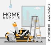 vector illustration of toolbox... | Shutterstock .eps vector #1122405248