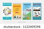 flat mining industry vertical... | Shutterstock .eps vector #1122409298