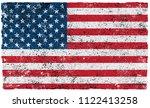 american grunge flag.vector... | Shutterstock .eps vector #1122413258