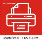 fax machine vector icon  | Shutterstock .eps vector #1122418625