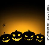 halloween pumpkin background  ... | Shutterstock .eps vector #112241888