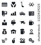 set of vector isolated black... | Shutterstock .eps vector #1122419225